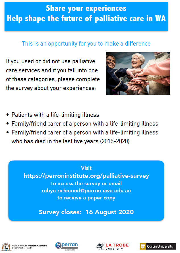 Share you experiences help shape the future of palliative care in WA